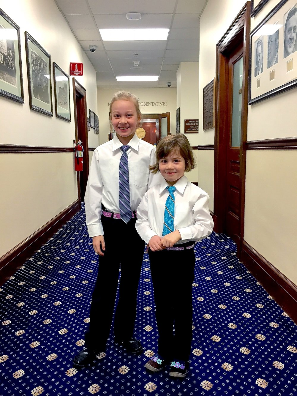Evelyn and Abigail Wool, Guest Pages, daughters of Adam Wool, Representative, District 5