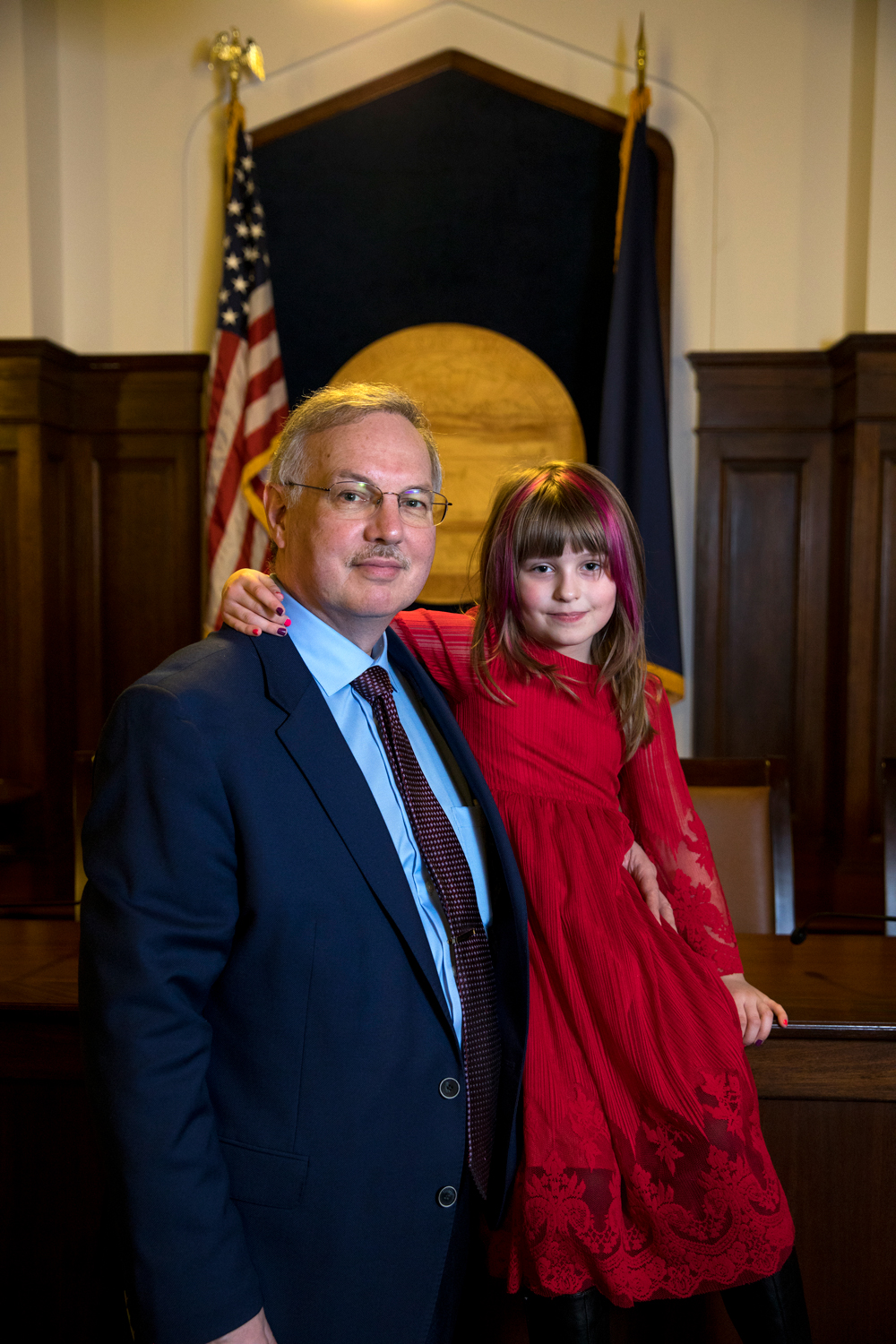 Bryce Edgmon, Speaker of the House, House Representative District 37, and his daughter, Emma