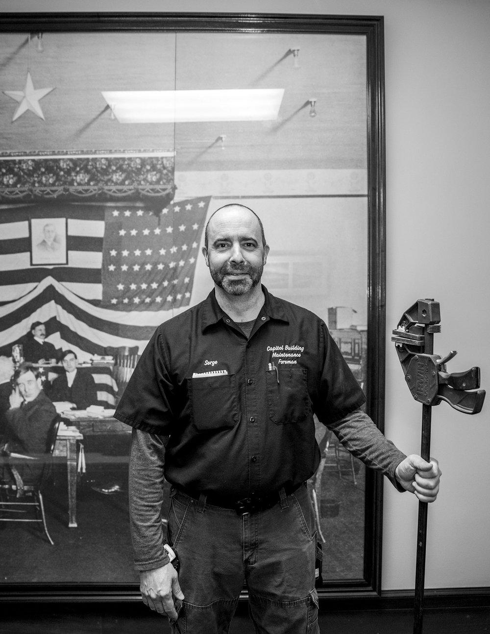 Serge Lesh, Capitol Building Maintenance Foreman