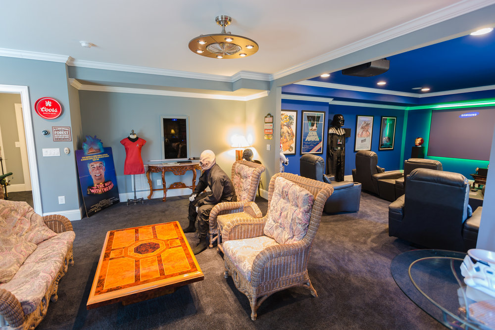 Man Cave Store Norcross : Cinema themed man cave u benjamin andrew construction co