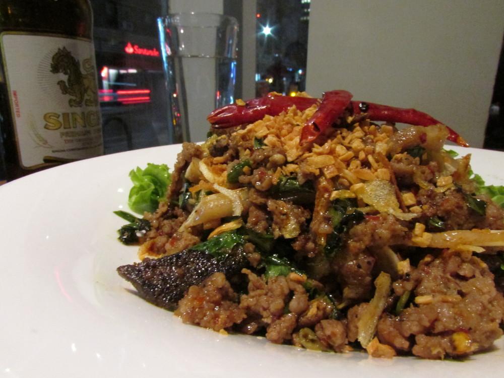 Spicy 'Larb Kua Moo'