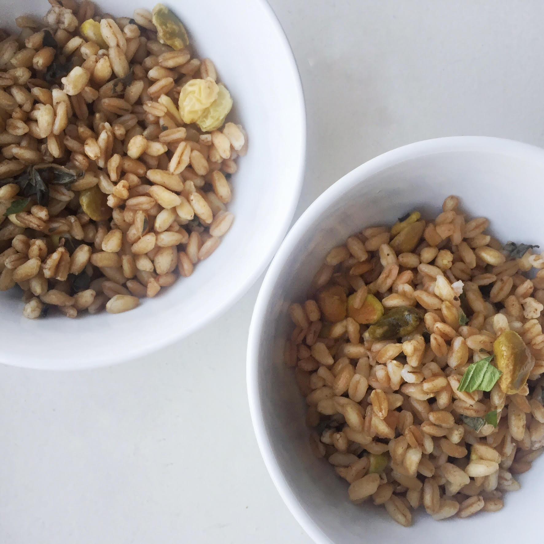 Meatless Monday: Farro Salad with Pistachio, Herbs and ...