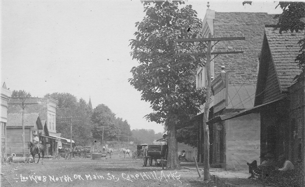 Looking North on Main St., Cane Hill, Ark.