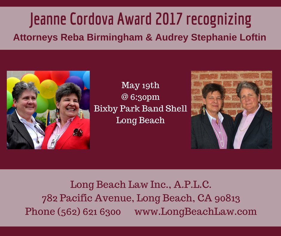 Long Beach Dyke May 2017 Reba Birmingham Stephanie Loftin award attorney.jpg