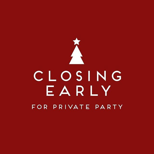 Beiruti Grand Cafe will be closing at 6pm today for our staff Christmas party!