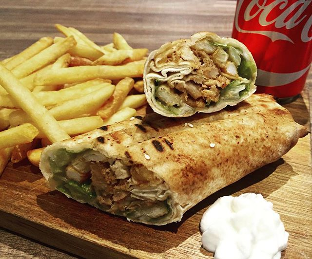 For limited time only, Chicken Shawerma Sandwich, Fries and a Pop for $12 only!