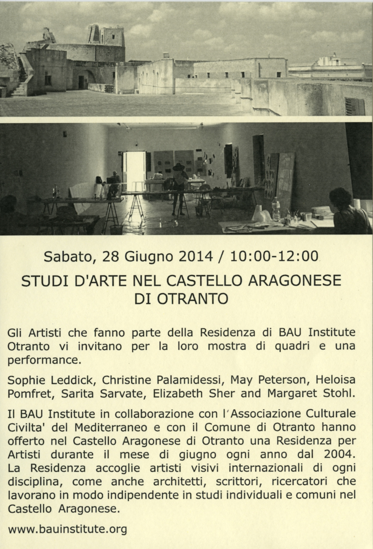 Otranto Show Flier