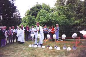 Reconstruction Starts - 1999 The Rev. David Anderson at ground breaking