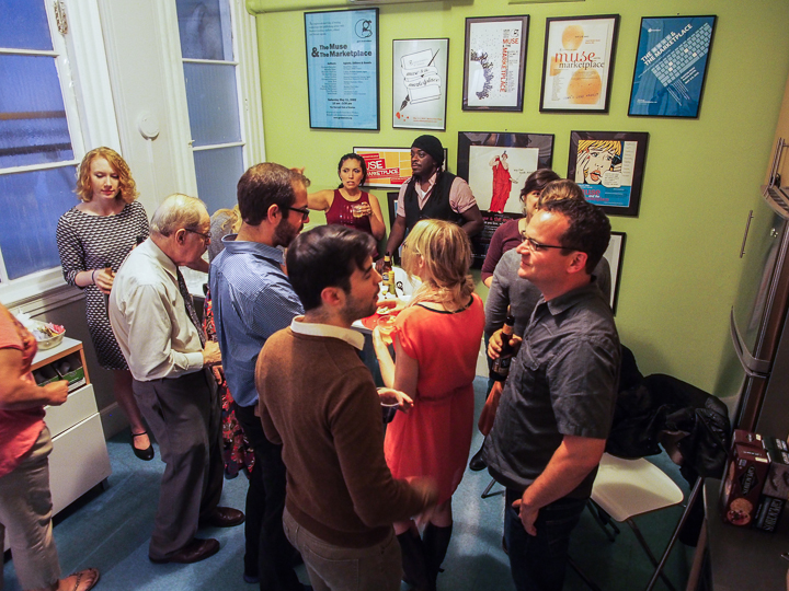 Opening of Boston Authors Project at GrubStreet. Photo: Jeremy Kriegel