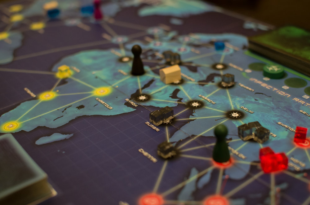 Catan, Ticket To Ride, Pandemic - Any of those ring a bell? Then come join us for a fun night of board games and friends! Even if those names don't sound familiar, our Red Rock Board Game Night is a great way to play a favorite or new board game, and make some friends in the process. Downstairs we have our hosted 'Premier' games with John, Nik & Peter - we rotate these games regularly and showcase new games. Upstairs is a free play area where anyone can bring a board game and host, or join a game with others.   To sign up for our hosted games, please join our Google Group, so you can get our monthly email detailing which games will be hosted. This also gives you the chance to sign up and save a seat for yourself!