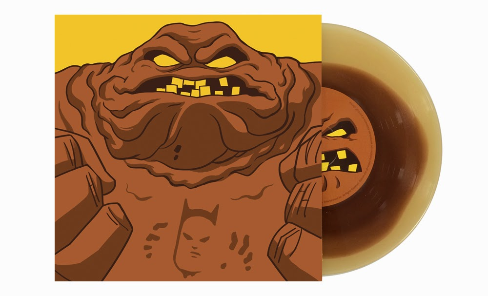 "San Diego Comic-Con 2014 Exclusive Batman The Animated Series 7"" Singles by Danny Elfman & Mondo - Clayface by Gary Pullin.jpg"