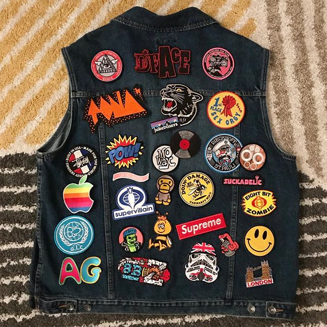 After purchasing a denim jacket and a work shirt, I decided it needs to be a proper damn denim vest to host my patch collection! Whatcha think? — #patches #patchgame #wip #denim #denimvest #patchproject #hypebeaststyle