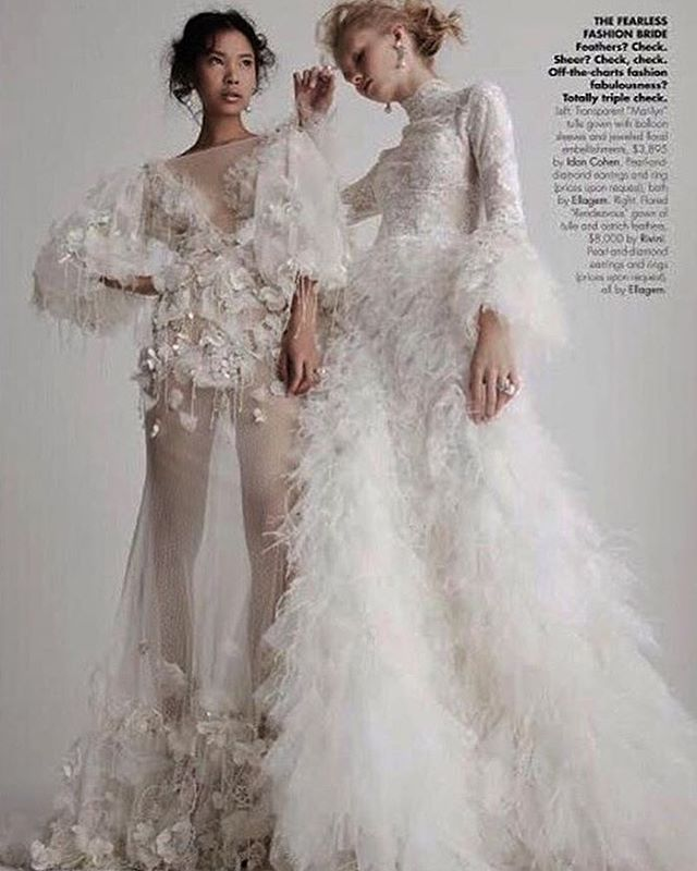 Idan Cohen's 'Marilyn' gown (left) in Inside Weddings Magazine's January Issue.