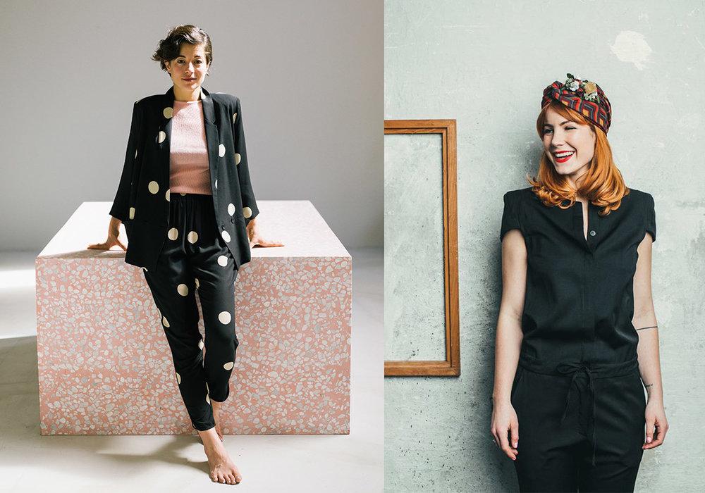 links: Sophie Pollak , Gründerin  WeBandits  rechts: Cecilia Capri , Gründerin  We Are Flowergirls