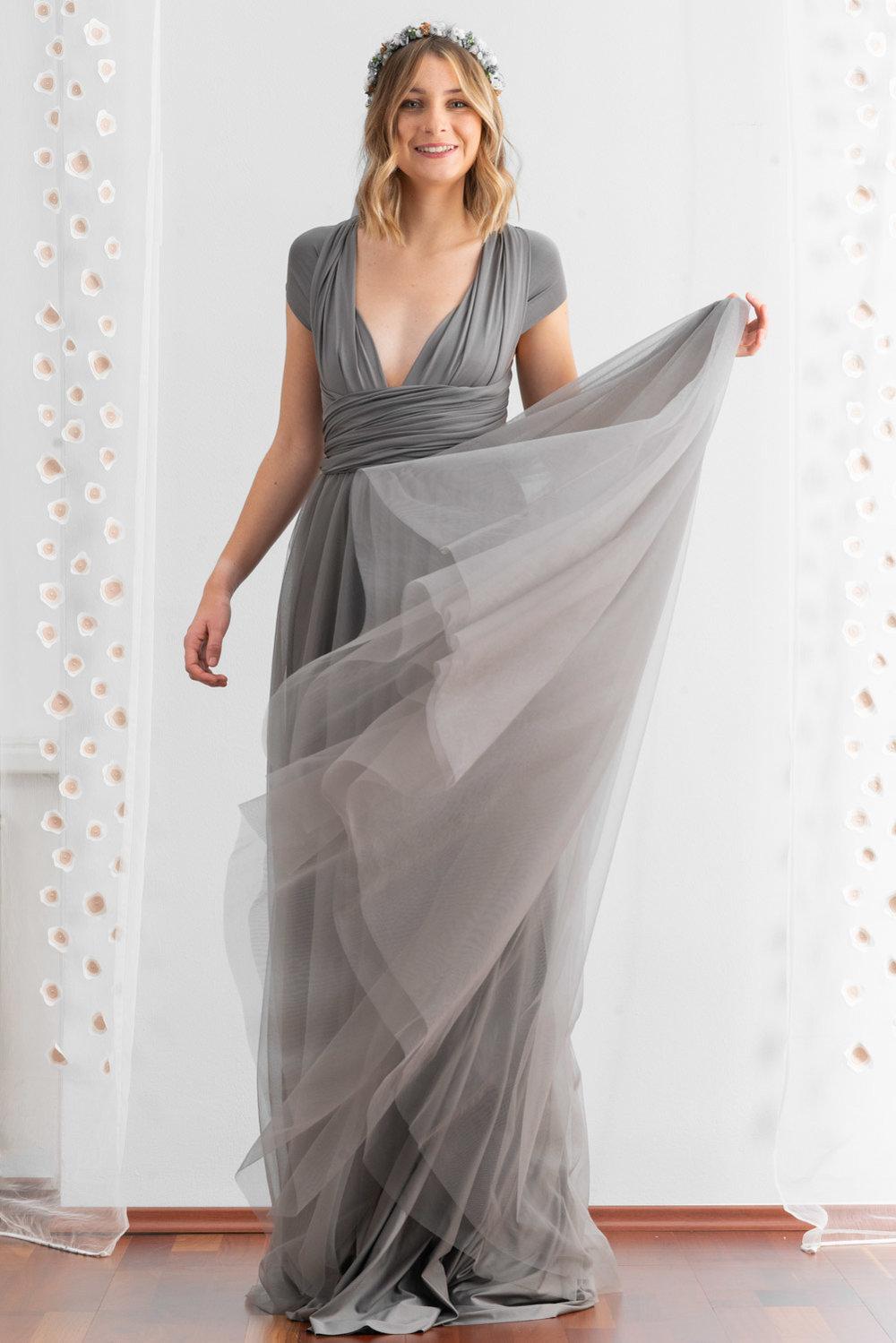 Dress To Wear To Wedding | Bridesmaids Dress Silver Grey We Are Flowergirls Custom