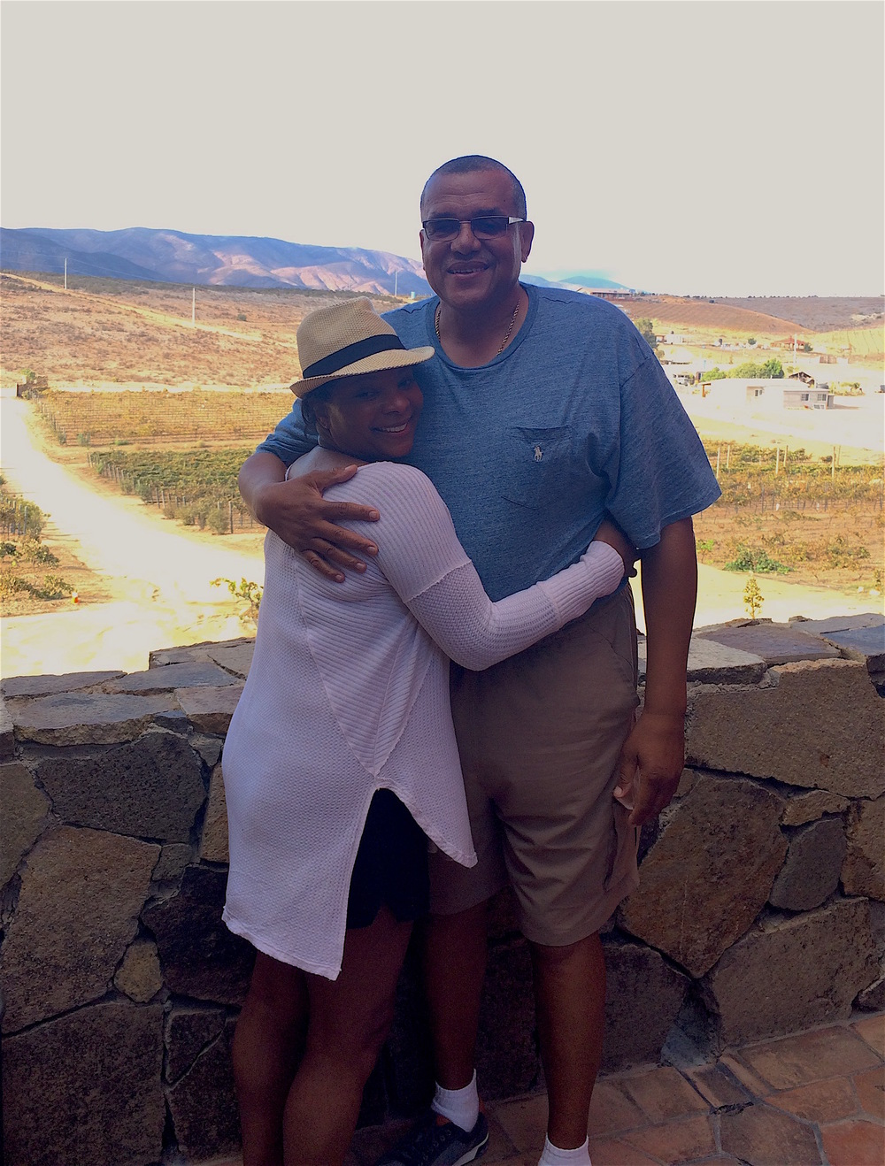 Stacy and her husband Lewis, on tour with BTK, enjoying a lovely day of wine tasting and exploring in the Valle de Guadalupe. Neither had been to Mexico before this trip, and they absolutely loved it!