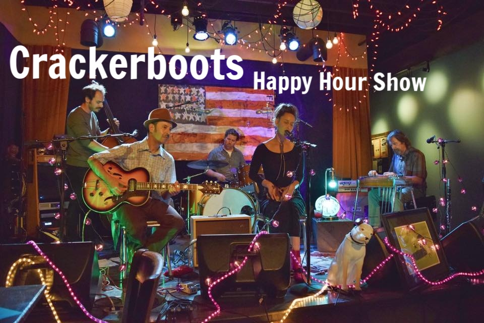 Fun and sultry jazz originals and Drink Specials! What more could you ask for on a Saturday evening? Come check out Crackerboots Happy Hour Show on the First Saturday of every month featuring Luella and Bill DeMain.