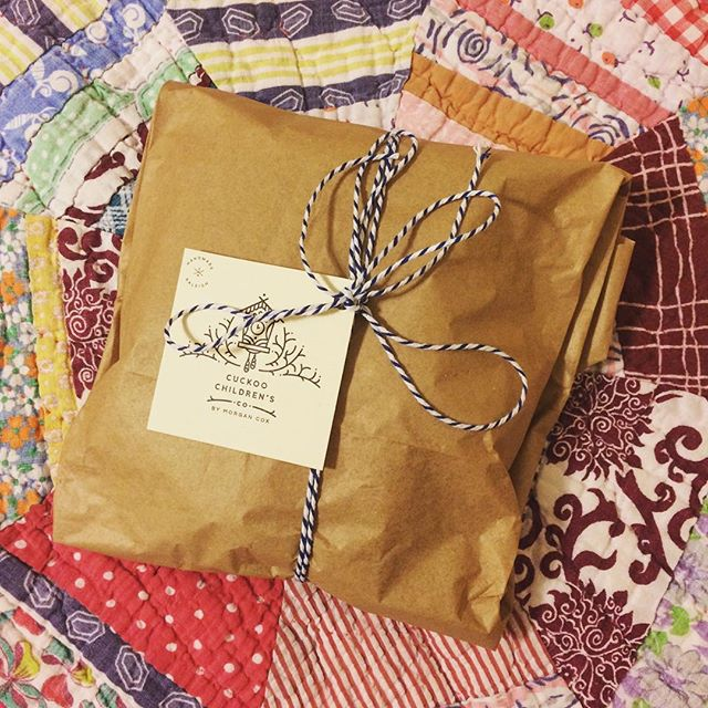 ❤️ brown paper packages tied up with string... #favoritethings #friday #weekend #fall #gift #christmas #kidsfashion #little #ecofashion #knit #handmade