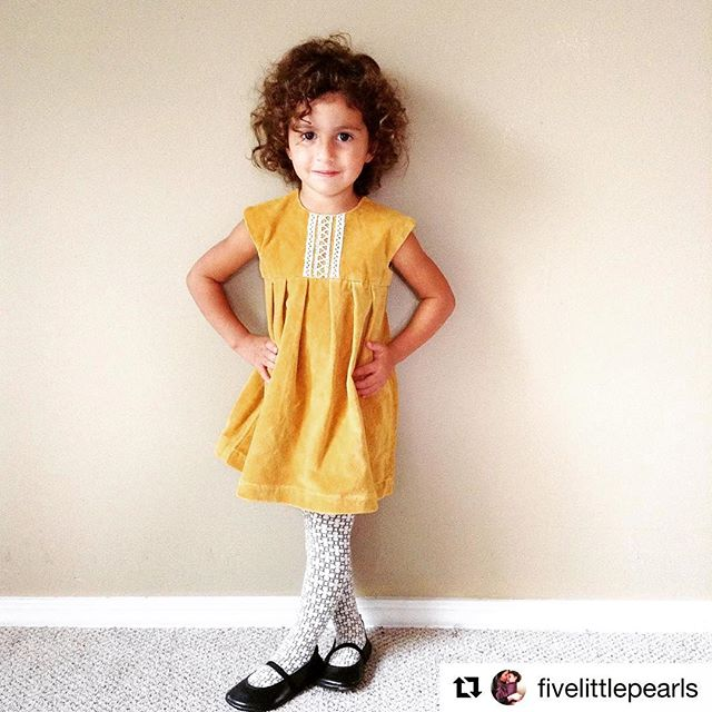 One of our #factory45 giveaway winners posted this precious photo of her little one in our #cuckoo velveteen dress! #cuckoochild #cuckoochildrensco #littlestyle #littlebird #dress #fall #thursday #style #eco #kidsfashion #sew #handmade #giveaway #Repost @fivelittlepearls with @repostapp ・・・