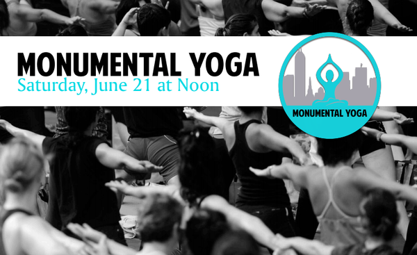 If you're looking for something to do this weekend and you want to be a part of something big; the Monumental Yoga event might be up your alley. The entire circle will be filled with people participating in a one hour yoga class. There will be various activities beginning, tomorrow June 21, at 11 a.m. followed by the class at noon. Be sure to bring your own yoga mat and water. There will be yoga instructors making their rounds to help beginners with some of the more advanced poses. It is advised that you arrive early to find a good spot. Did we mention the event is FREE (suggested donation)?! Start stretching now, the event takes place rain or shine.