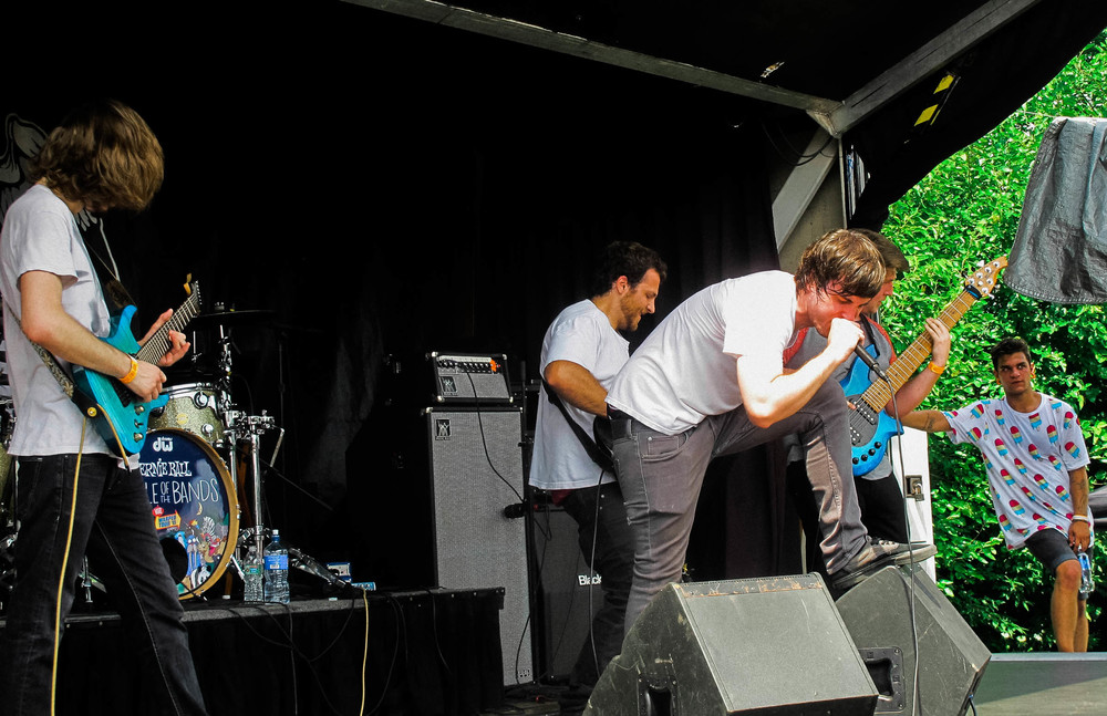 Sirens, a local band originating from Terre Haute, IN, was one of five local bands to play the Ernie Ball stage.