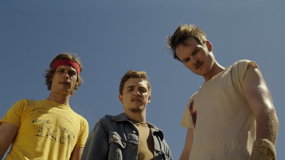 Sawyer and the gang. From 'Band of Robbers' trailer.
