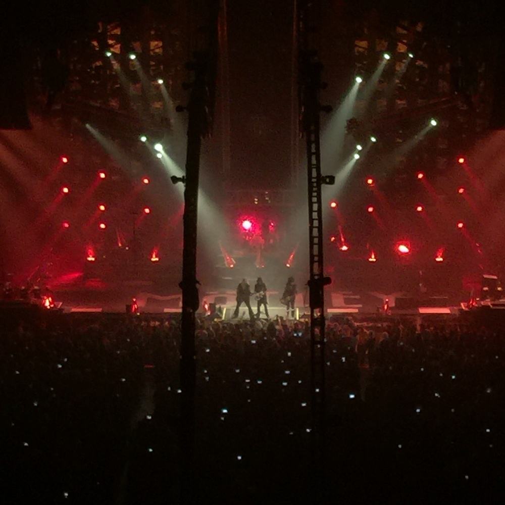 The Crüe together on stage