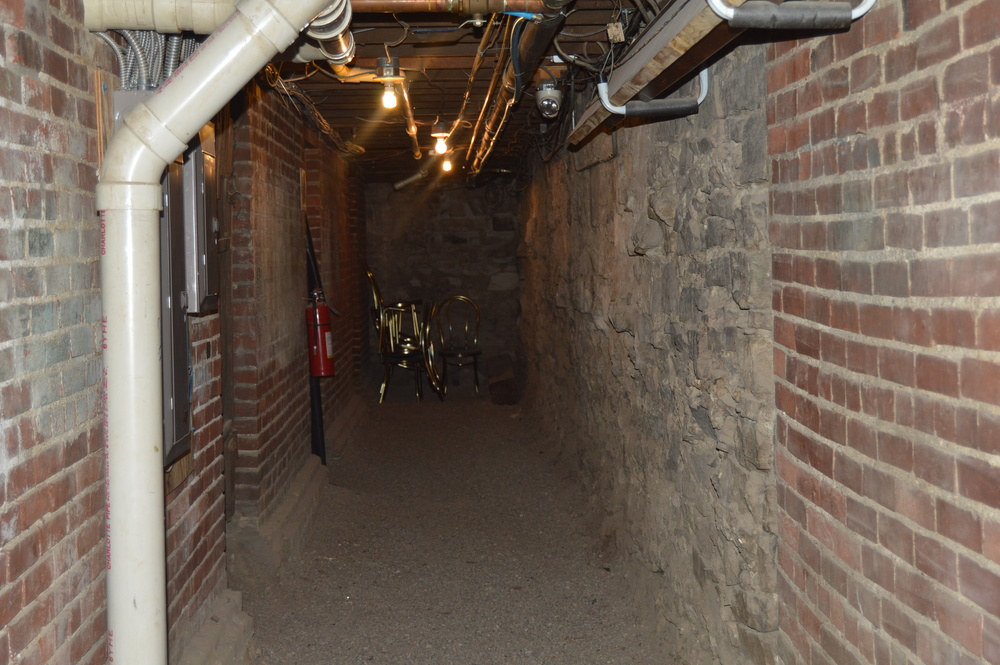 """George"" has been seen in this hallway in the basement of the Inn."