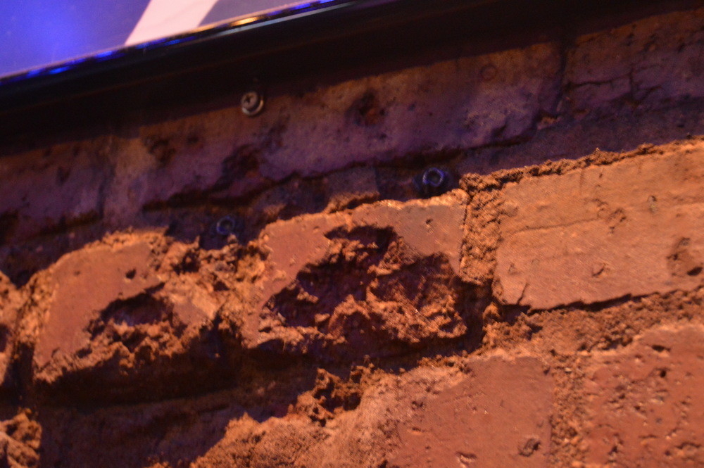 Bullets from Dillinger's alleged target practice remain in a wall near one of the stages in the Inn.