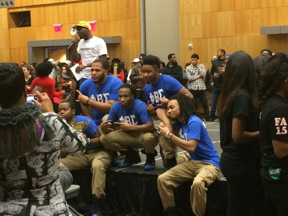 Phi Beta Sigma after being awarded the victory.