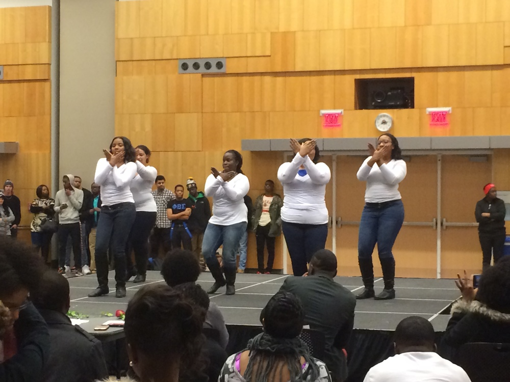 Zeta Phi Beta with their sigil.