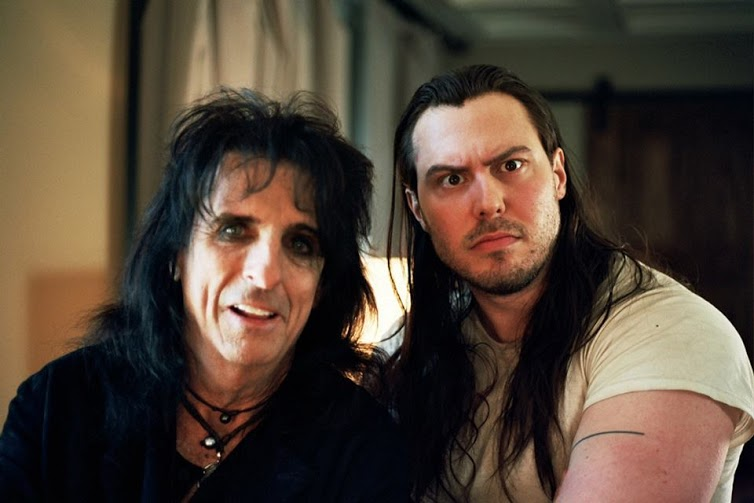 Picture from Facebook, Andrew W.K. and Alice Cooper