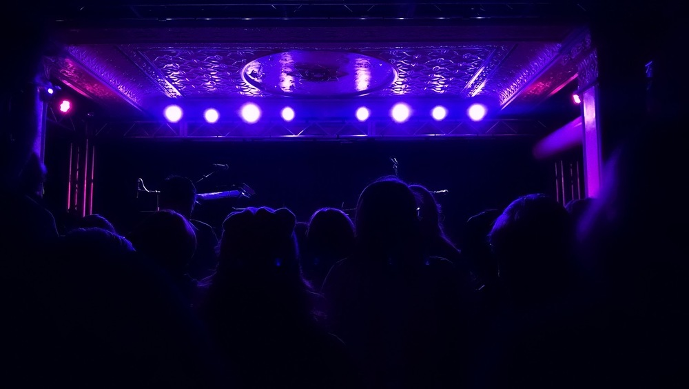 The Deluxe stage in Old National Centre before the Lily & Madeleine concert on Feb. 27.