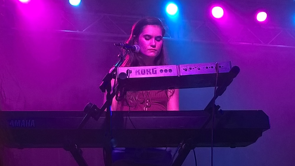 Lily plays the piano.