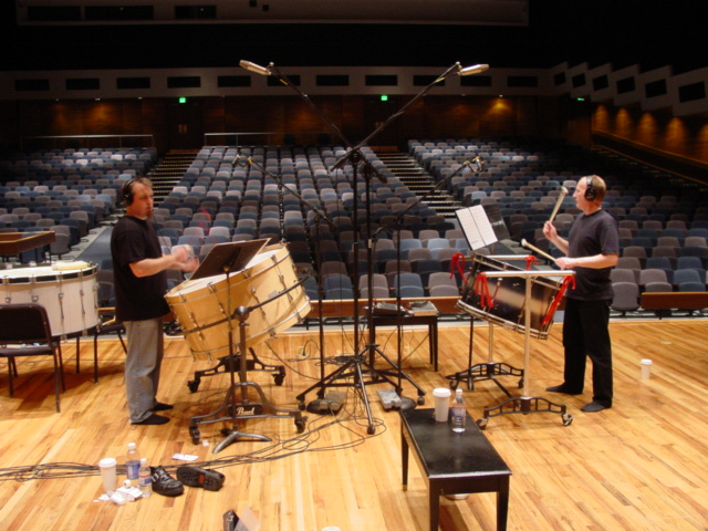 "Scott Deal and Stuart Gerber recording ""Qilyuan"" in 2004."