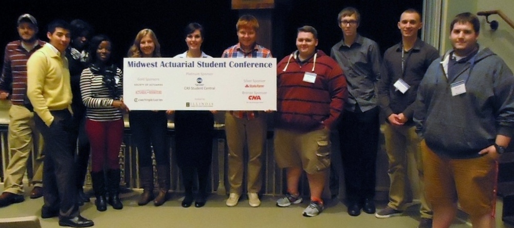 The Actuarial Science Club attends the 3rd Annual Midwest Actuarial Student Conference at the University of Michigan.