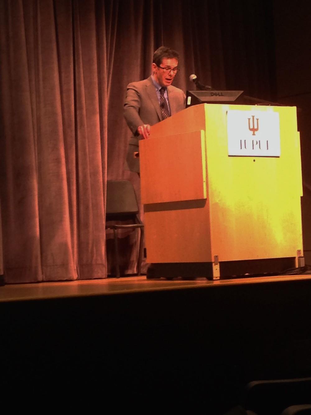 Dr. John Roseman addresses the crowd.
