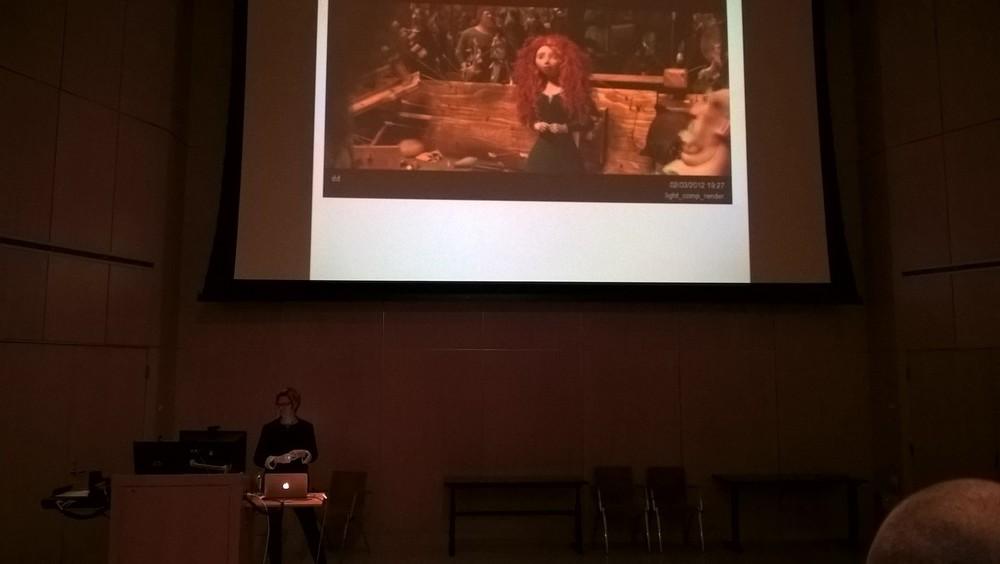"""Pixar animator Bret Parker discusses her work on """"Brave."""""""