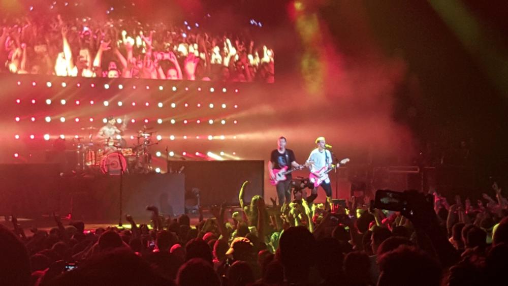 Blink 182 onstage. (Photo taken by Kelley West.)