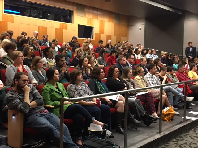 Dozens of students and faculty attend IUPUI Town Hall
