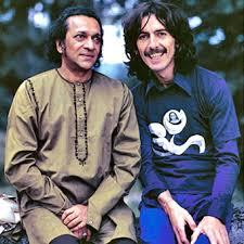 Harrison and Ravi Shankar, Harrison's mentor. (Photo courtesy of Beatlesnet.)