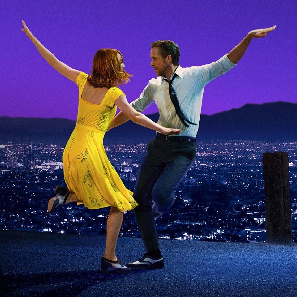 "Stone and Gosling in ""La La Land."" (Photo from ""La La Land"" Facebook page)"
