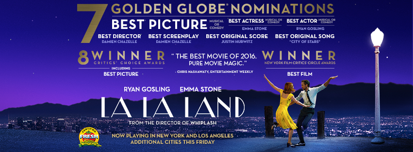 """""""La La Land"""" already set to be regarded as one of the best films of 2016. (Photo from """"La La Land"""" Facebook page.)"""