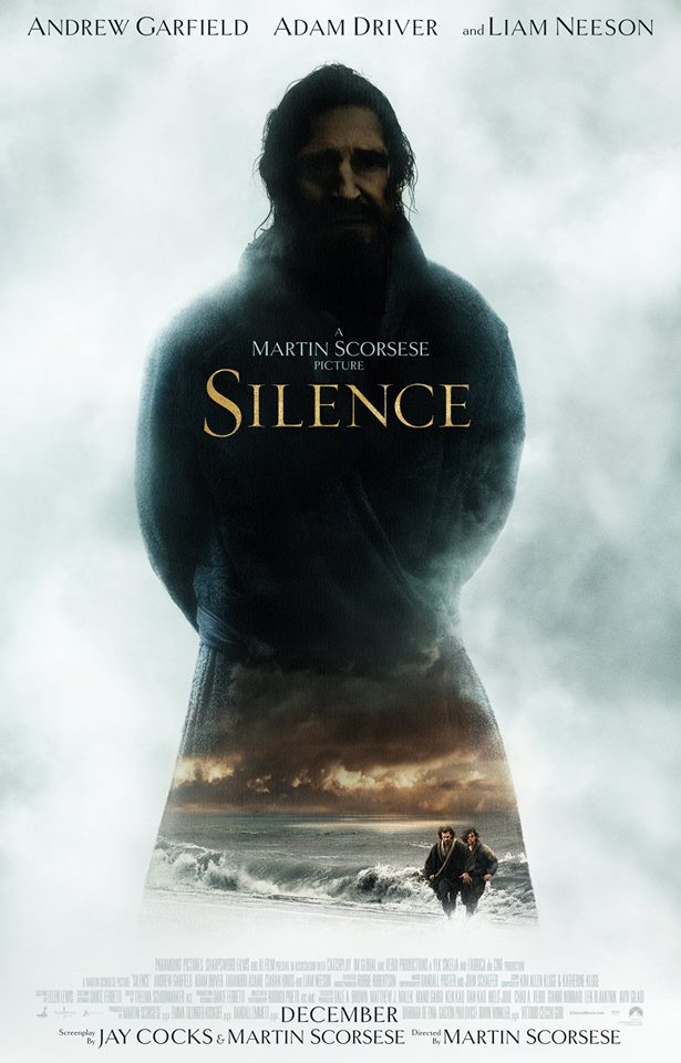 "Theatrical poster of ""Silence"" (Photo from Silence Movie Facebook page)"