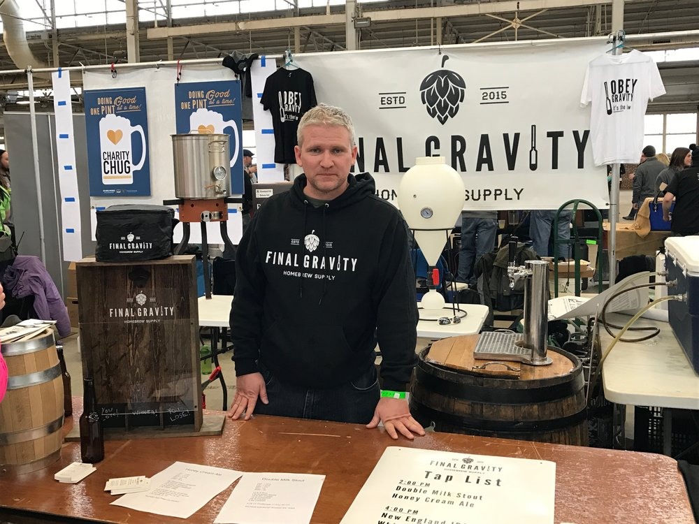 Final Gravity's booth at Winterfest
