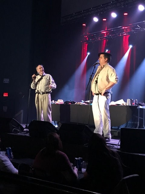From left to right Mr. Lahey and Randy on stage, photo from Andrew Heck