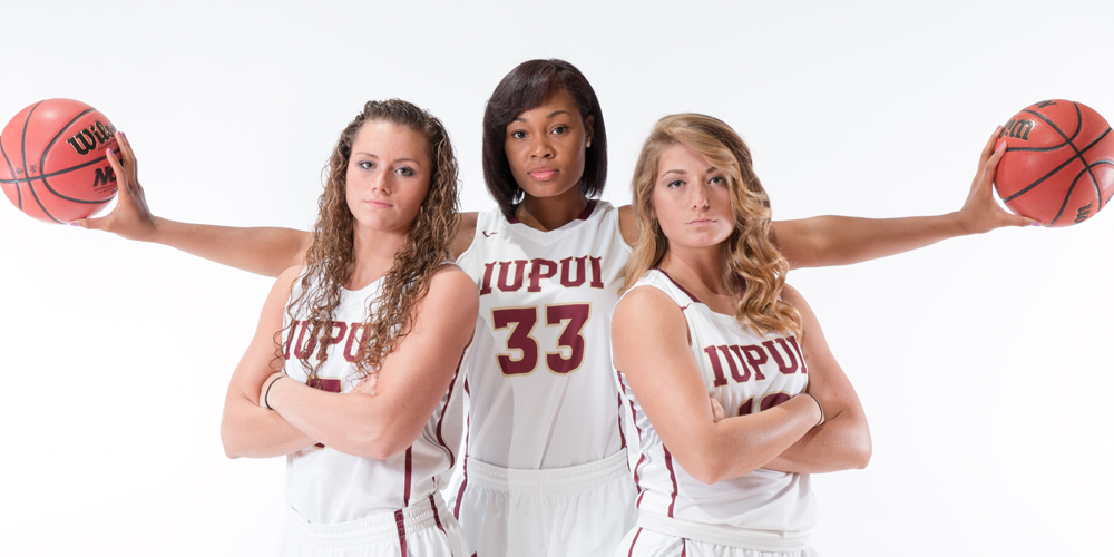 Left to Right: Kelsi Byrd, Mikale Rogers, Caitlyn Tolen Photo Courtesy: iupuijags.com