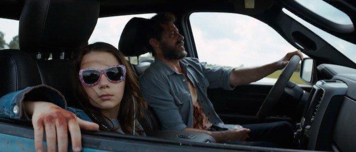 "Dafne Keen and Hugh Jackman in ""Logan"" (photo from Slash Film)"