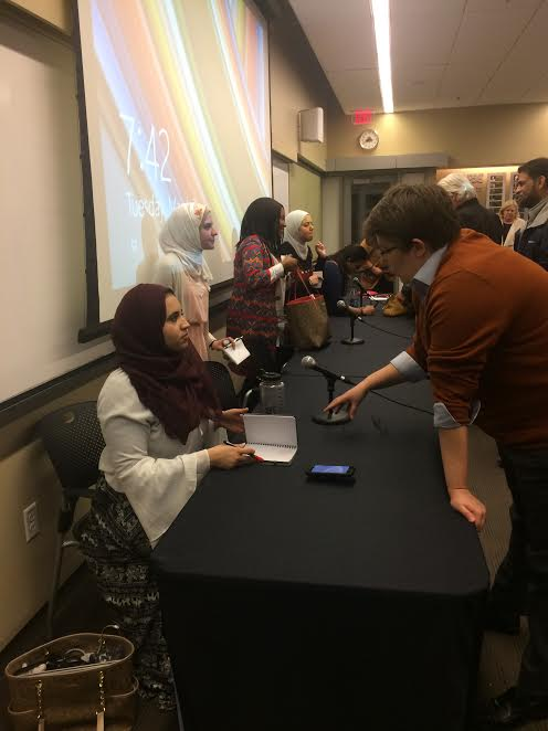 Five women spoke to an IUPUI audience about their experiences as Muslim women.