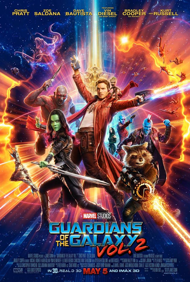 "Theatrical poster of ""Guardians of the Galaxy Vol. 2"" (Photo from Guardians of the Galaxy Facebook page)"